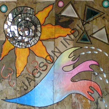 buy elements painted mural tile from jagson india gurgaon. Black Bedroom Furniture Sets. Home Design Ideas