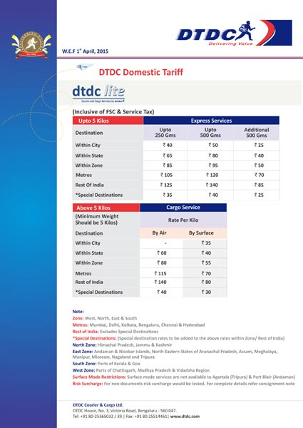 tracking dtdc courier