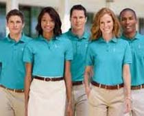 Buy employee uniforms from sreei revathy gaarments for Employee shirts embroidered logo
