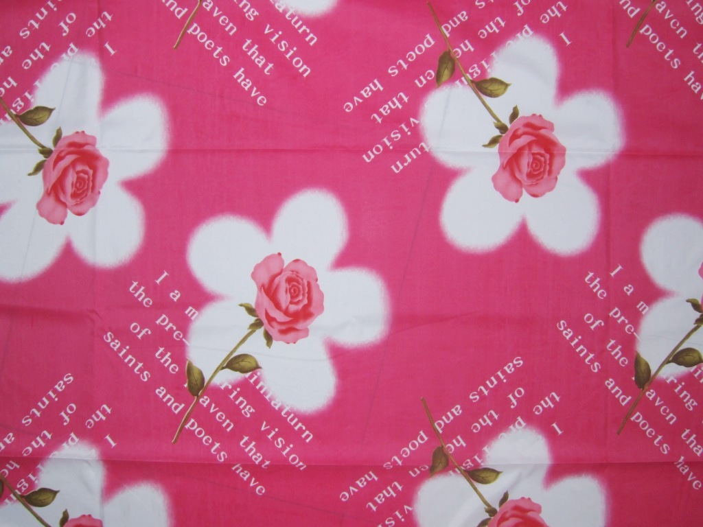 Pink bed sheet texture - Polyester Printed Bedsheets Fabric
