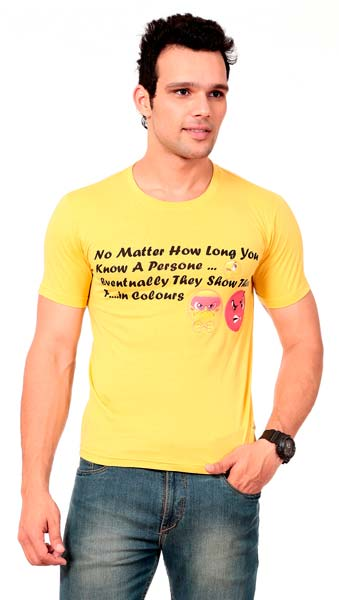 Products mens quotes printed t shirts manufacturer for Printed t shirts india