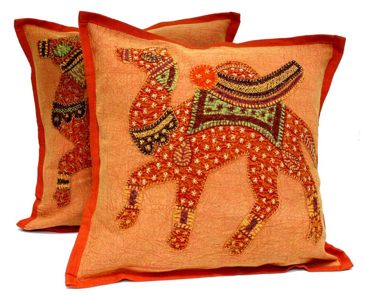 products 2 orange handcrafted embroidered patchwork