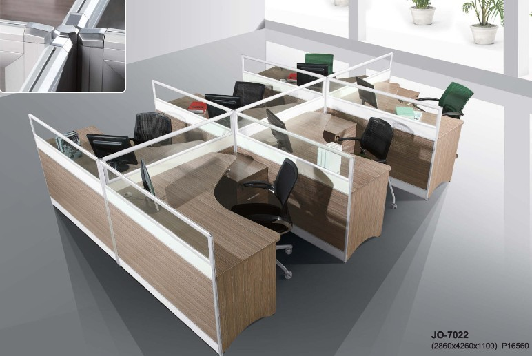 Buy office workstation for six persons from ntuple for Modern minimalist office design layout