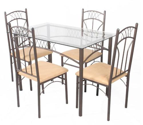 Products steel dining table set manufacturer for Steel dining table design
