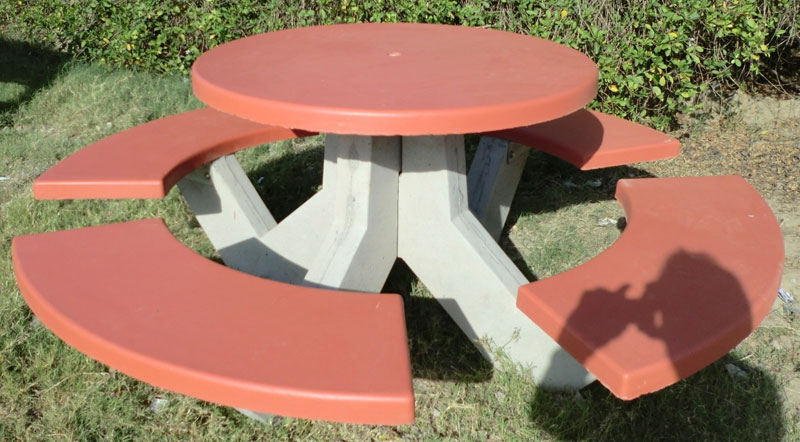 Buy Concrete Garden Bench with Table from Tridev Concrete Product