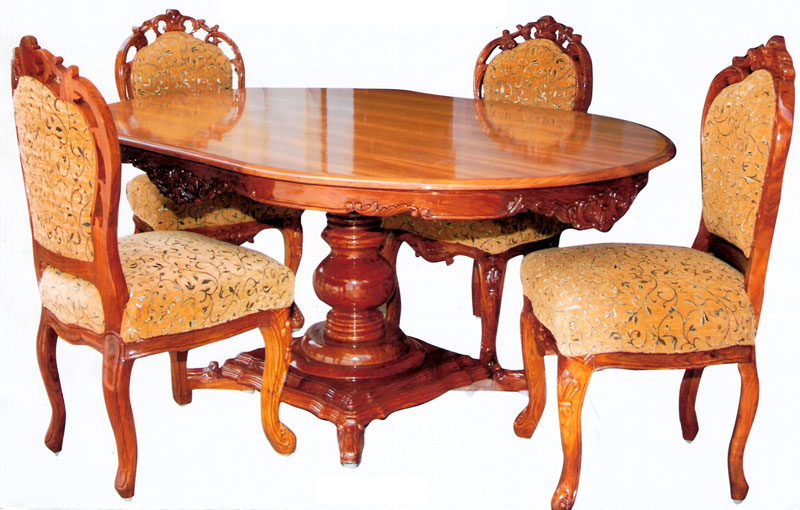 buy wooden dining table from usha handicrafts saharanpur india id