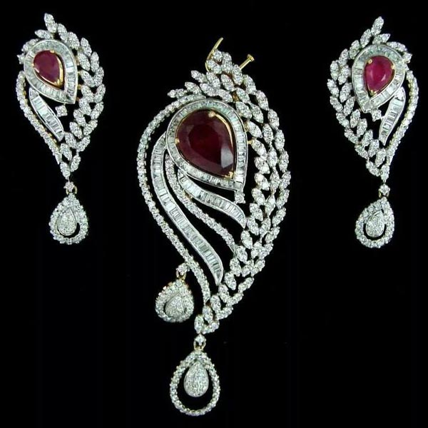 Products - Buy Diamond Pendant Set from Ambey Diamonds ...