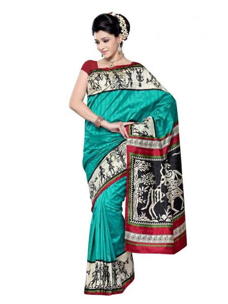 Products - Warli Painting Silk Sarees Manufacturer inPune ...
