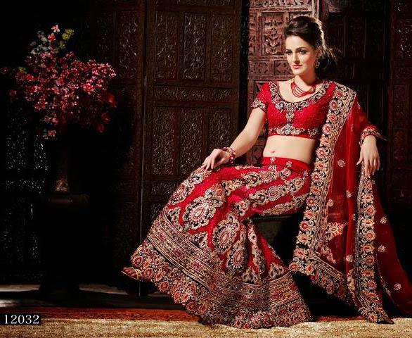 20ecc3bdb563 150197. picture of melodic crimson latest wedding saree. 175687 ...