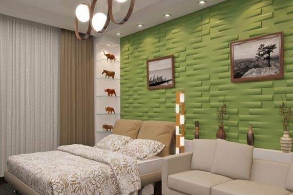 Products buy 3d wall panels from ratan international - Tiles for bedroom walls india ...