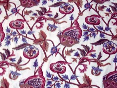 Crewel Embroidered Fabric- CF - 05 (CF - 05)