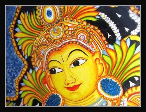 Buy kerala mural oil painting from varrmas arts for Easy mural painting