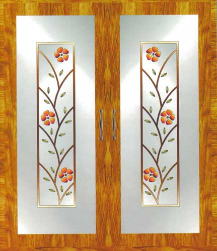 Buy window glass painting from varrmas arts coimbatore for Window glass design in kerala