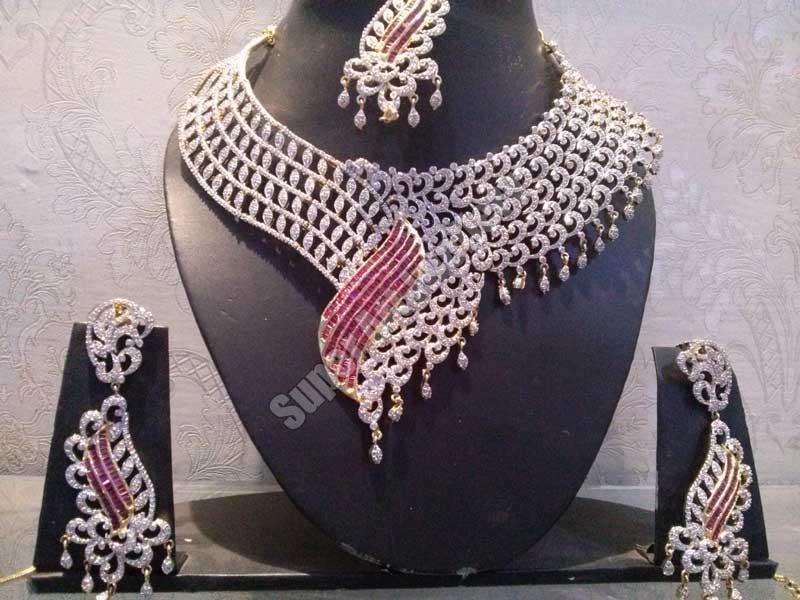 Diamond Jewellery: Diamond Necklace For Bride Cost India