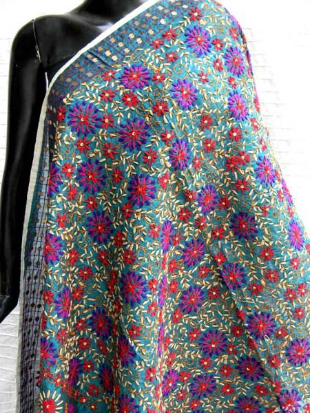 Products buy hand embroidered phulkari dupatta from