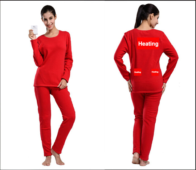 Buy Womens Thermal Underwear with Battery Heating System Electric ...