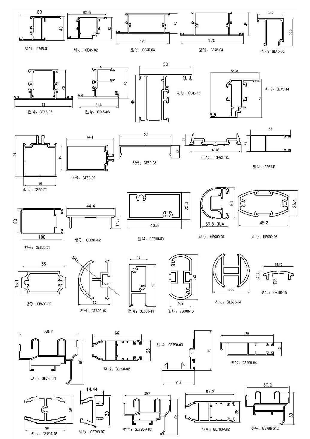 Aluminum Profiles Windows -ge Item Manufacturer  Manufacturer from FO