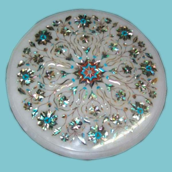 Marble Inlay Table Tops : Products buy marble inlay table top from marblestyle