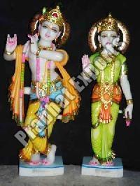 Marble Lord Radha Krishna Statue