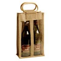Two Bottle Jute Wine Bags