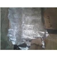 Silver Metallic Goat Leather