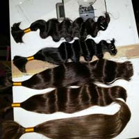 processed curly human hairs