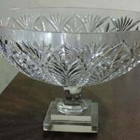 glass crystal fruit bowl