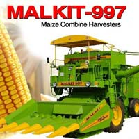 Self Propelled Maize Combine Harvester