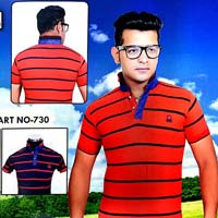 Mens Half Sleeve Lining Polo T-shirts