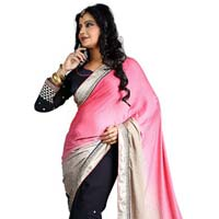 Embroidery Threads Work Saree