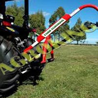 Tractor Crane With Hydraulic Post Hole Digger Pillar  Pole..