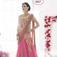 Divine Boutique Net Stone Work Lehenga Saree