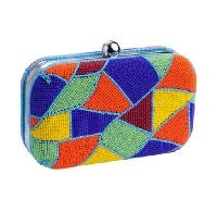Jigsaw Beaded Box Clutches