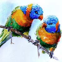 Birds Oil Canvas Paintings