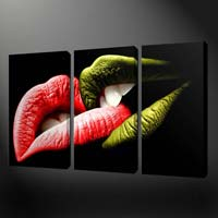 Lips Oil Canvas Paintings