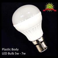 Plastic Body Led Bulbs 5W to 7W