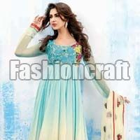 Fashioncraft Shaded Blue Heavy Embroidered Party Wear..