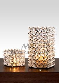 Crystal Beads T-light Holder