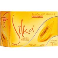 Silka Whitening Herbal Soap With Papaya & Vitamin E - 135gm