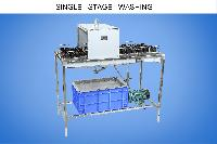 single stage washing machine for glass bottle