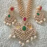 CZ 18k Gold Plated Necklace Set