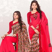 RekhaManiyar Fashions Designer Reversable Sari 8539
