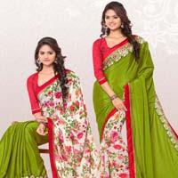 RekhaManiyar Fashions Designer Reversable Sari 8540