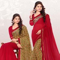 RekhaManiyar Fashions Designer Reversable Sari 8541