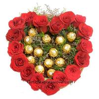 Flowers Heart Shaped Arrangement Services