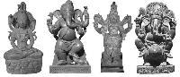 Carved Stone God Statues