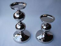 Metal Pillar Candle Holders