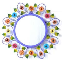 Iron hand painted wall decorative mirror