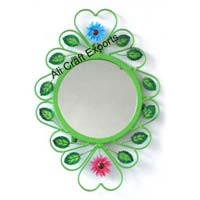 Iron hand painted wall decorative mirror.