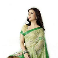 Fs1290 Rasal Braso Embrodary Work Green Saree